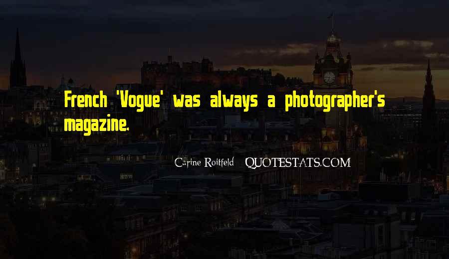 Quotes About Vogue Magazine #1295337