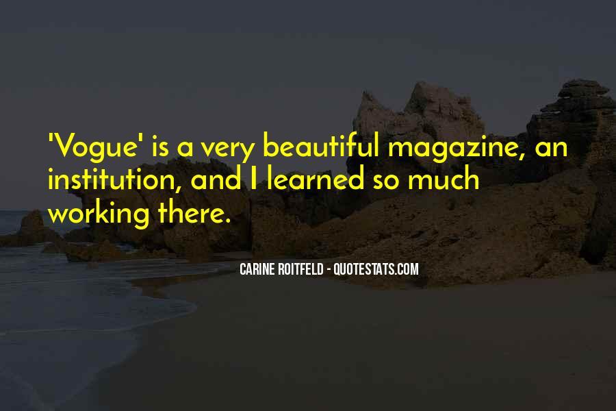 Quotes About Vogue Magazine #1307533
