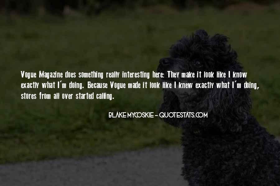 Quotes About Vogue Magazine #437276