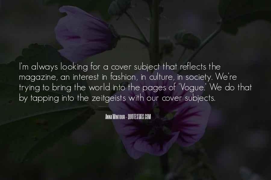 Quotes About Vogue Magazine #485302
