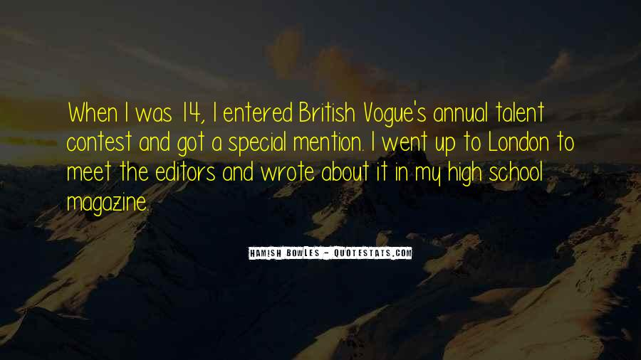 Quotes About Vogue Magazine #525925