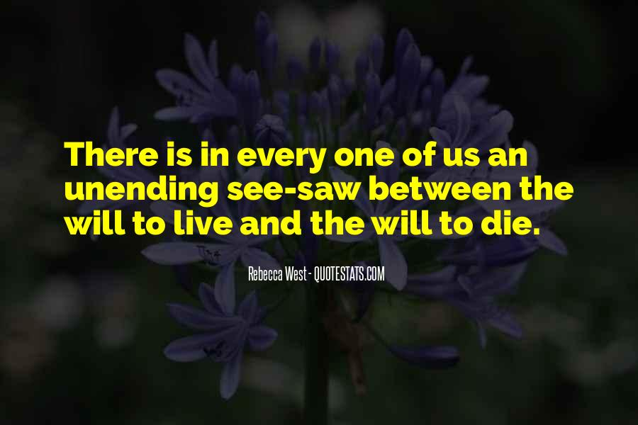 Quotes About Will To Live #82848