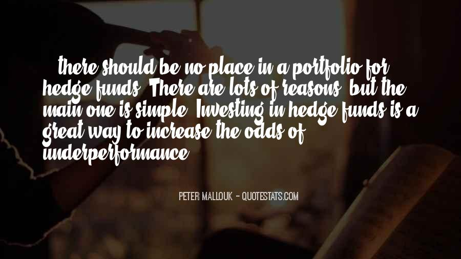 Quotes About Hedge Funds #778458