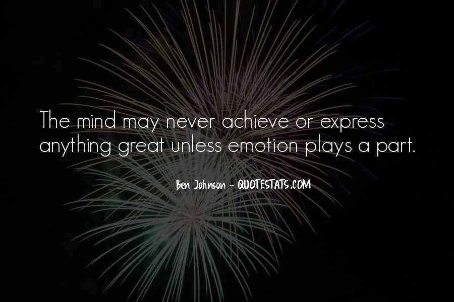Quotes About Mind Over Emotion #451745