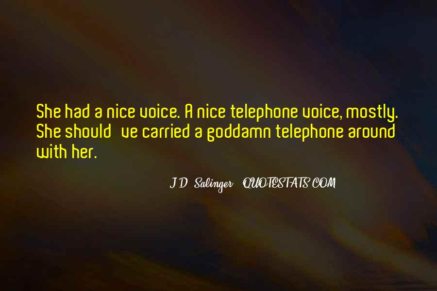 Quotes About A Nice Voice #343342