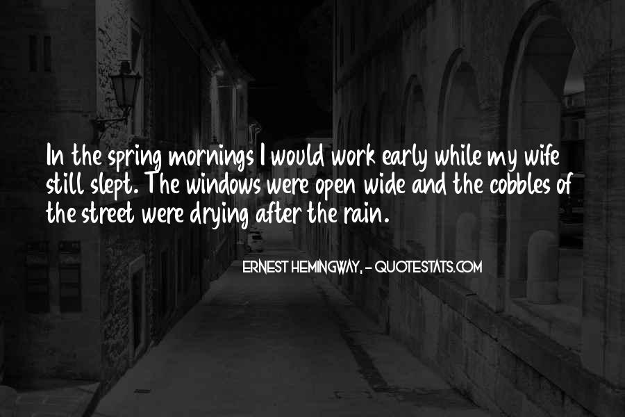 Quotes About Early In The Morning #601673