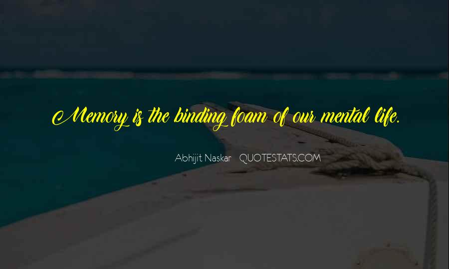 Quotes About Memory Psychology #270505