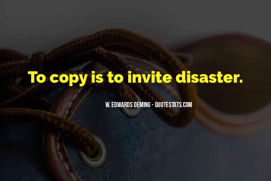 Quotes About Disaster Management #1529642