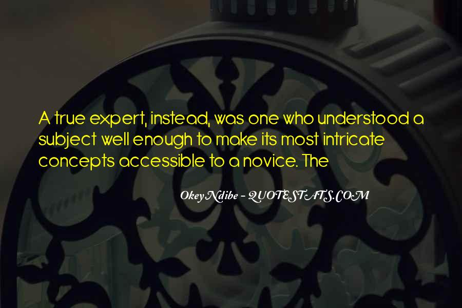 Quotes About Novice #1169245
