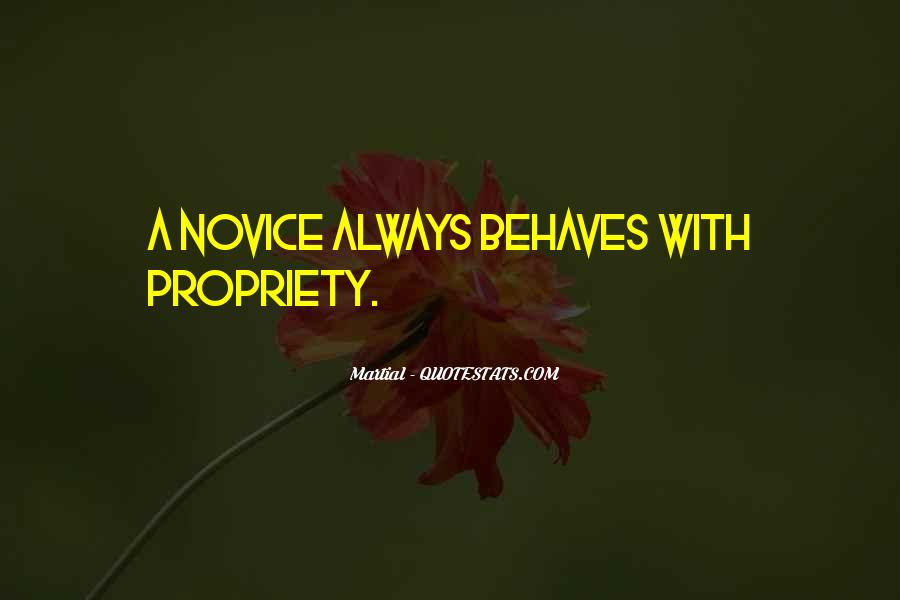 Quotes About Novice #248429