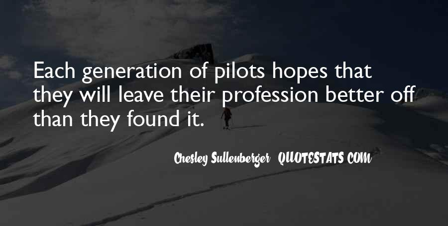 Quotes About Pilots #548666