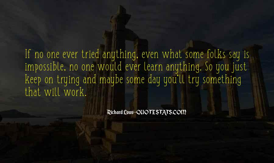 Quotes About Keep Trying #130069