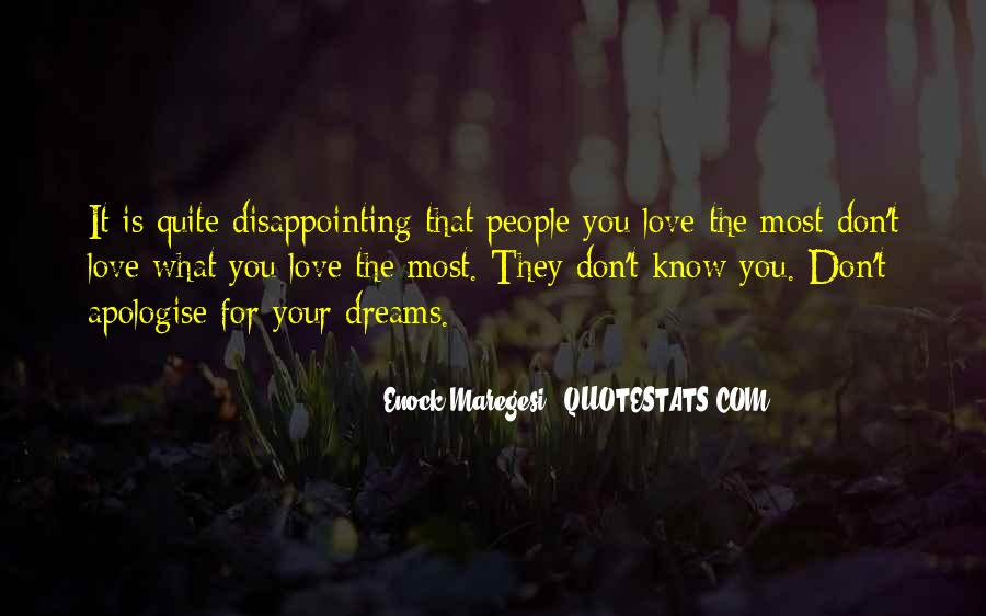 Quotes About Disappointing Others #109374