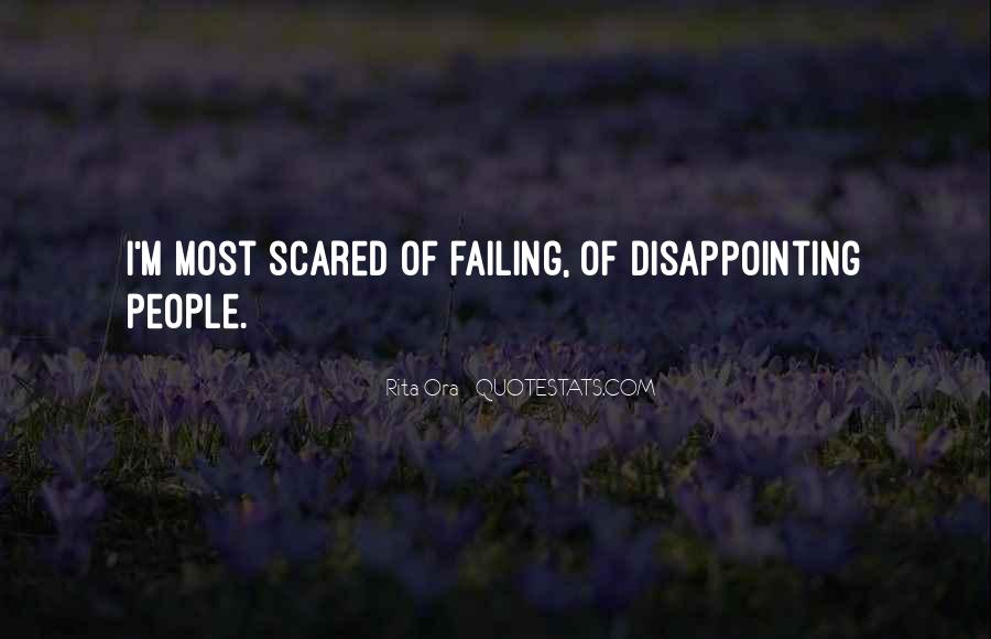 Quotes About Disappointing Others #135685