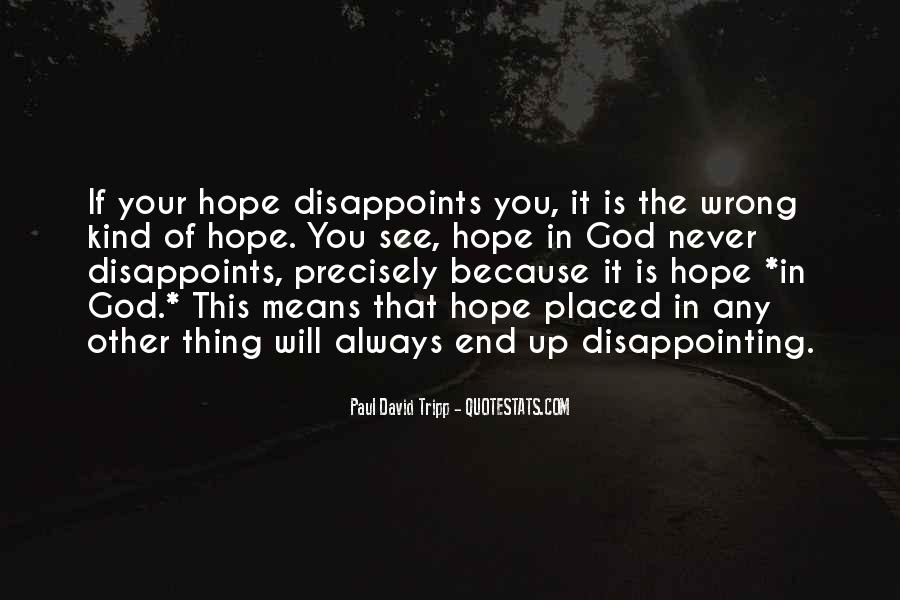 Quotes About Disappointing Others #141341