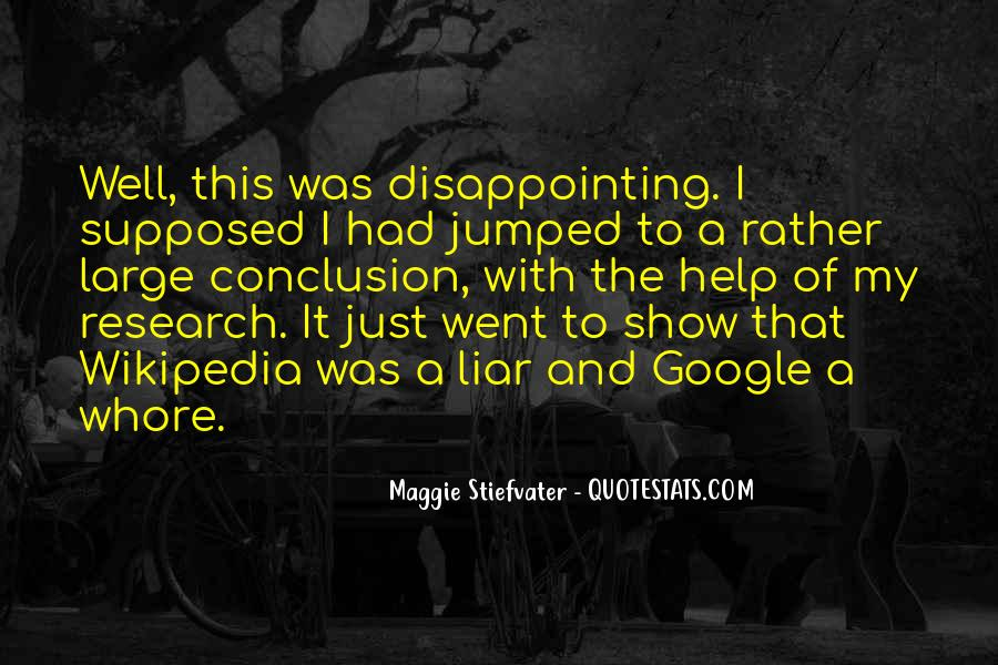 Quotes About Disappointing Others #6548