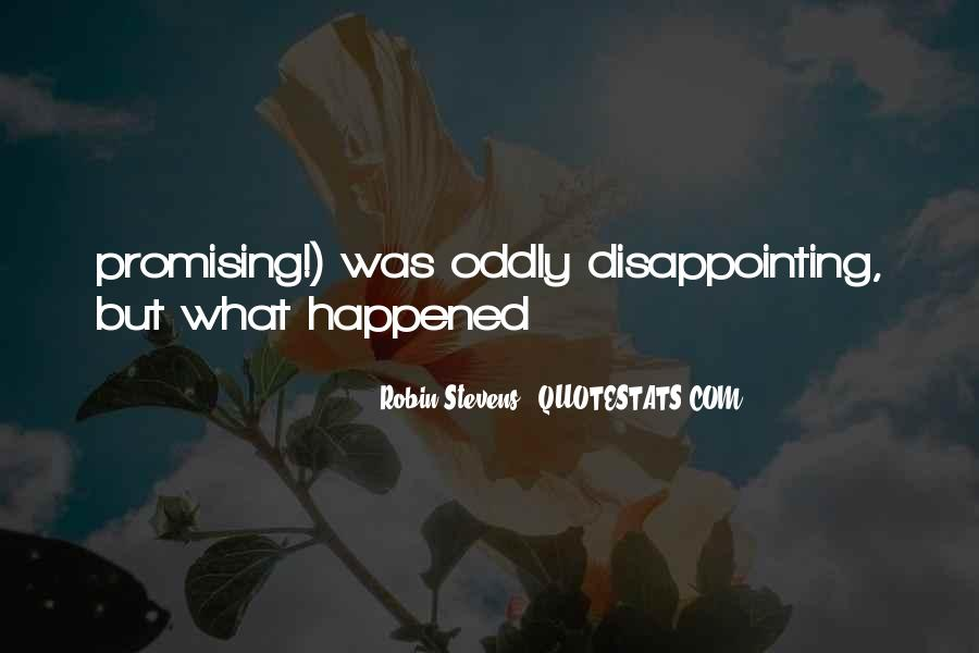 Quotes About Disappointing Others #92419