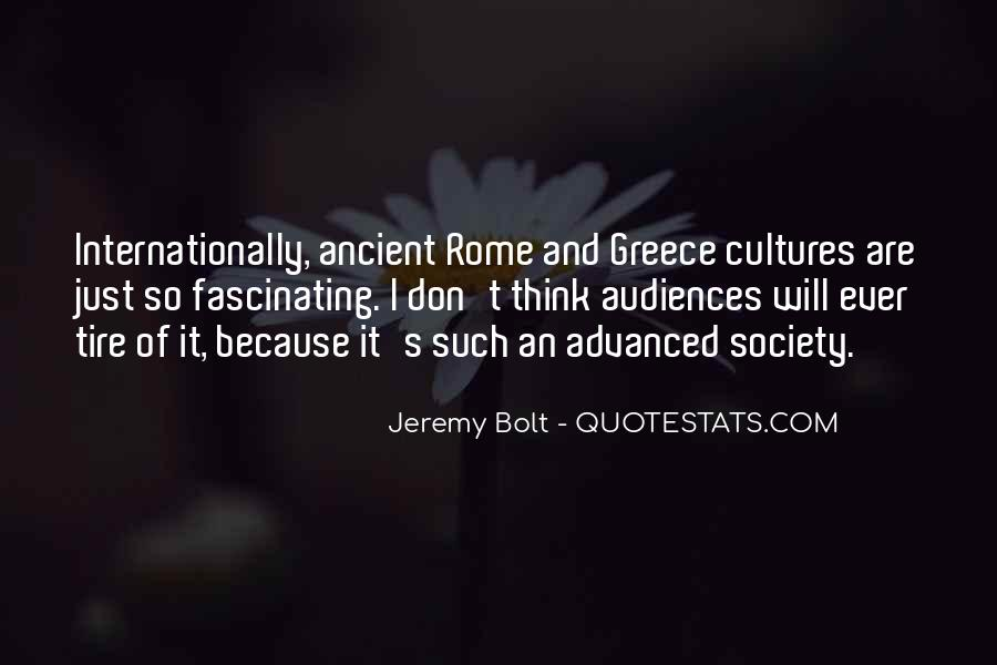 Quotes About Ancient Greece And Rome #329599