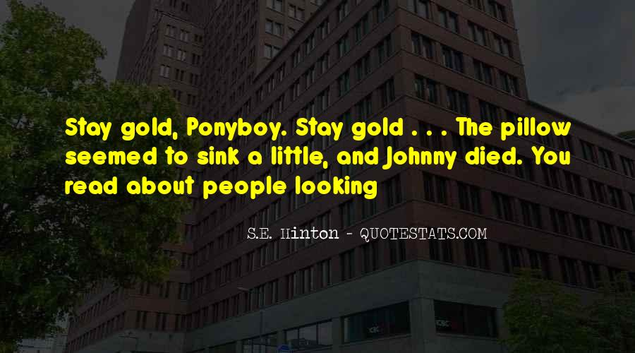 Quotes About Ponyboy #322256