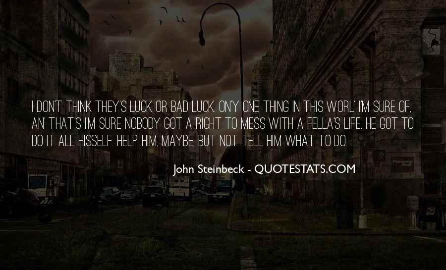 Quotes About Steinbeck #3096