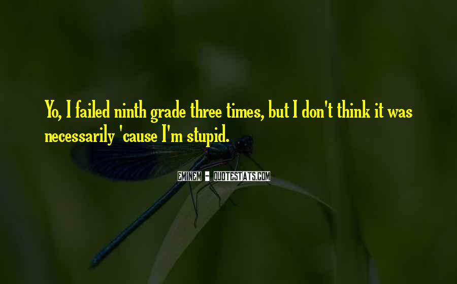 Quotes About Ninth Grade #1040663