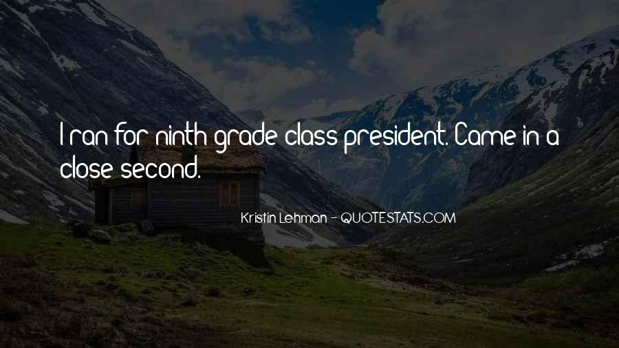Quotes About Ninth Grade #916688