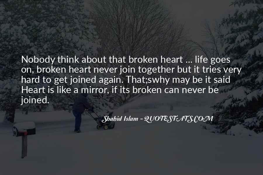 Quotes About A Broken Mirror #109351