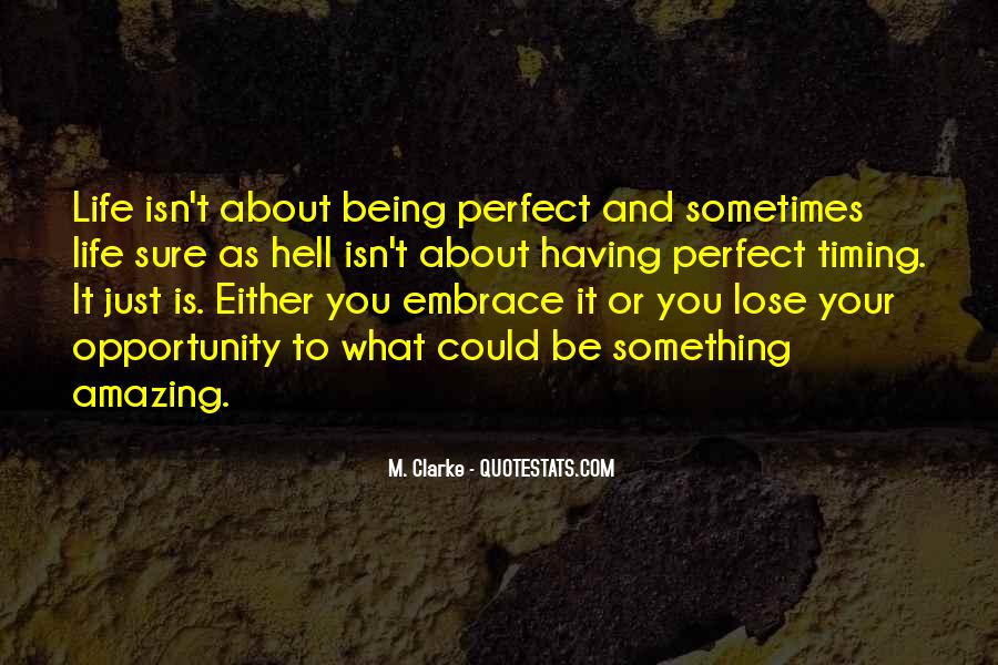 Quotes About My Life Not Being Perfect #47610