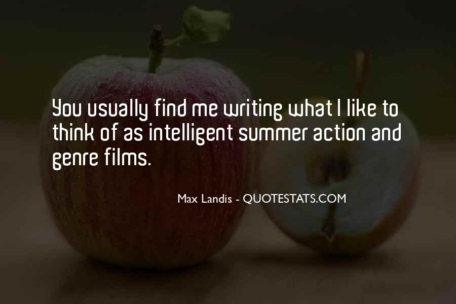 Quotes About The Action Genre #1258254