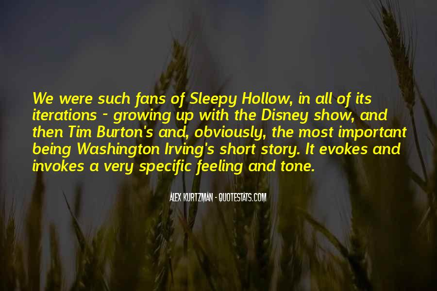 Quotes About Sleepy Hollow #1081312