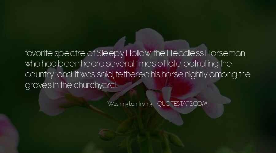 Quotes About Sleepy Hollow #702597