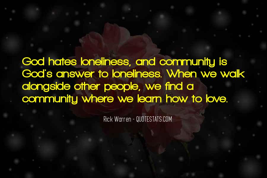 Quotes About Community Love #666870