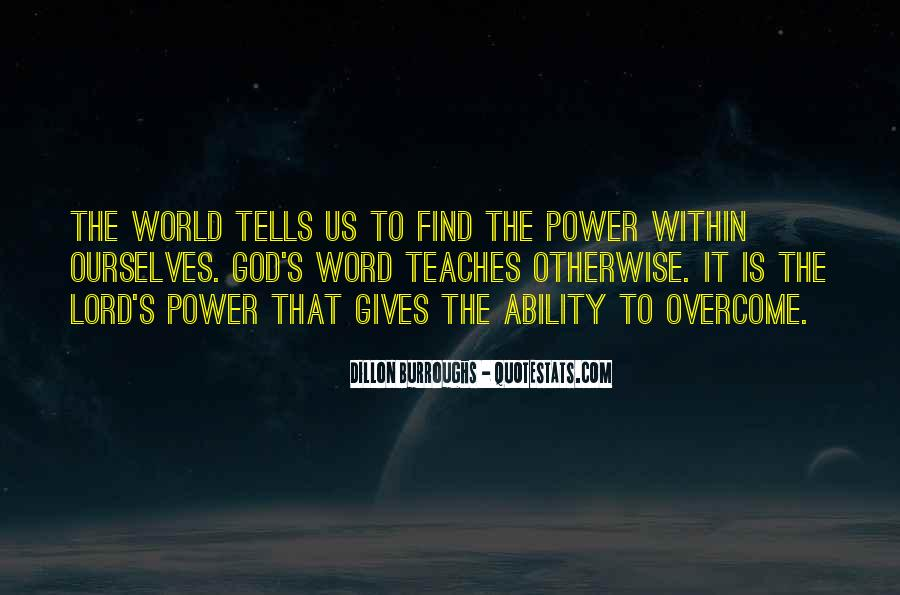 Quotes About God's Power #316642