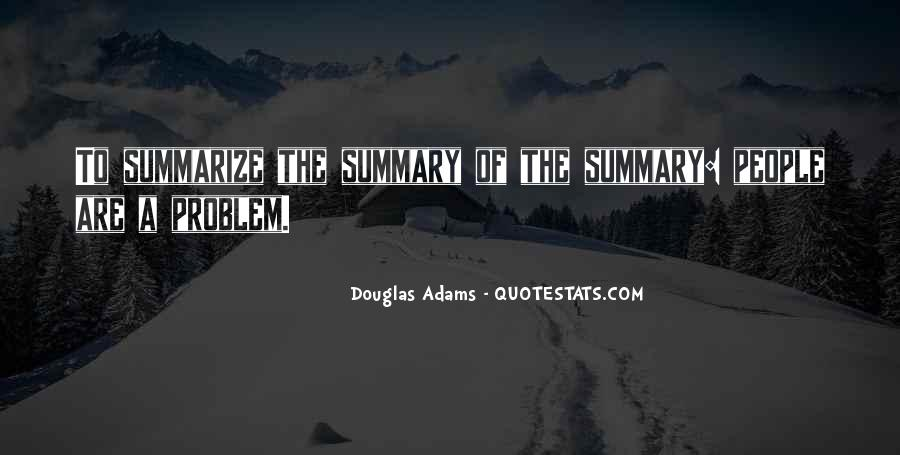 Quotes About Summary #1189452
