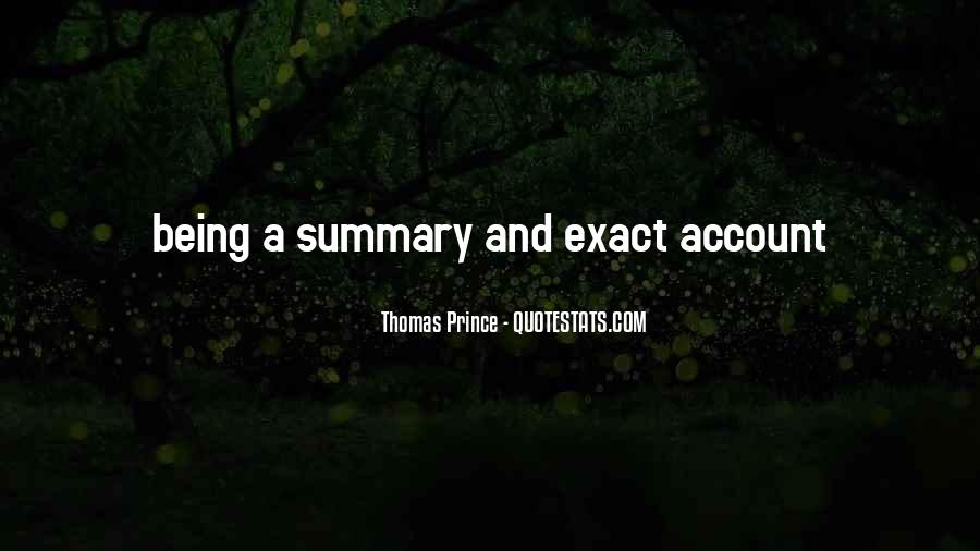 Quotes About Summary #1422470