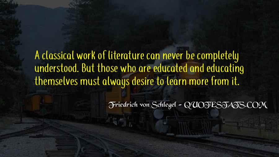 Quotes About Classical Literature #1594395