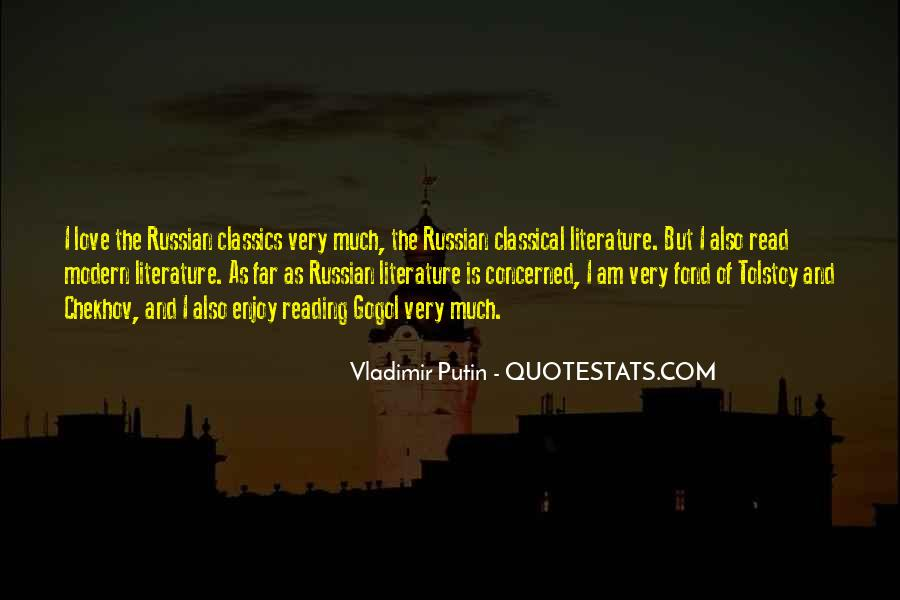 Quotes About Classical Literature #437149