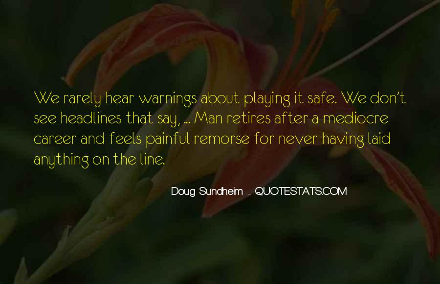 Quotes About Warnings #1039312