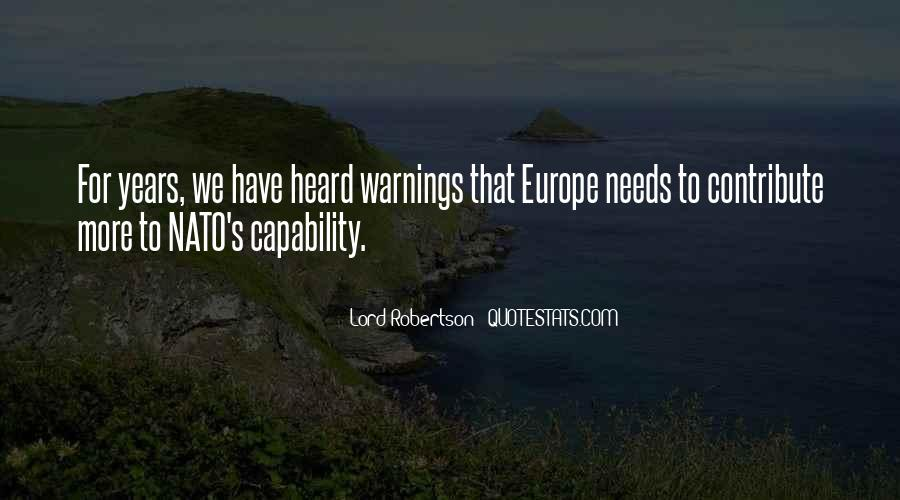 Quotes About Warnings #134611