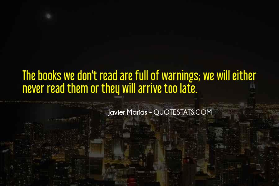 Quotes About Warnings #277750