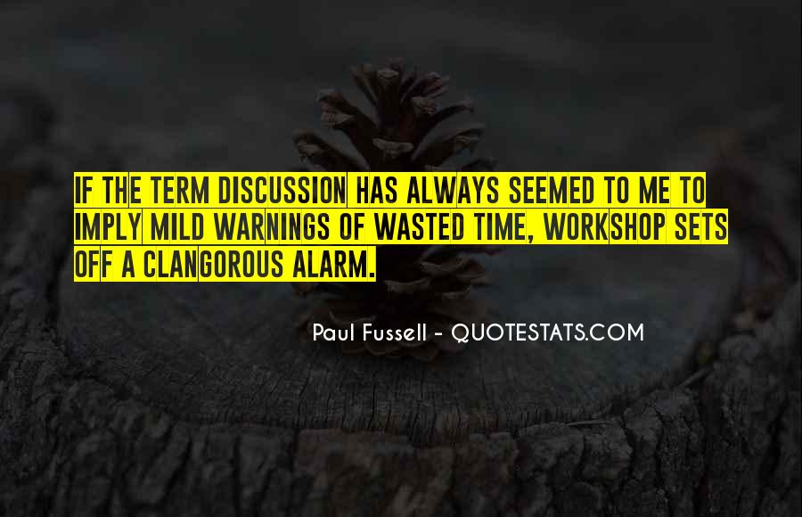 Quotes About Warnings #335668
