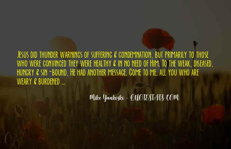 Quotes About Warnings #455870