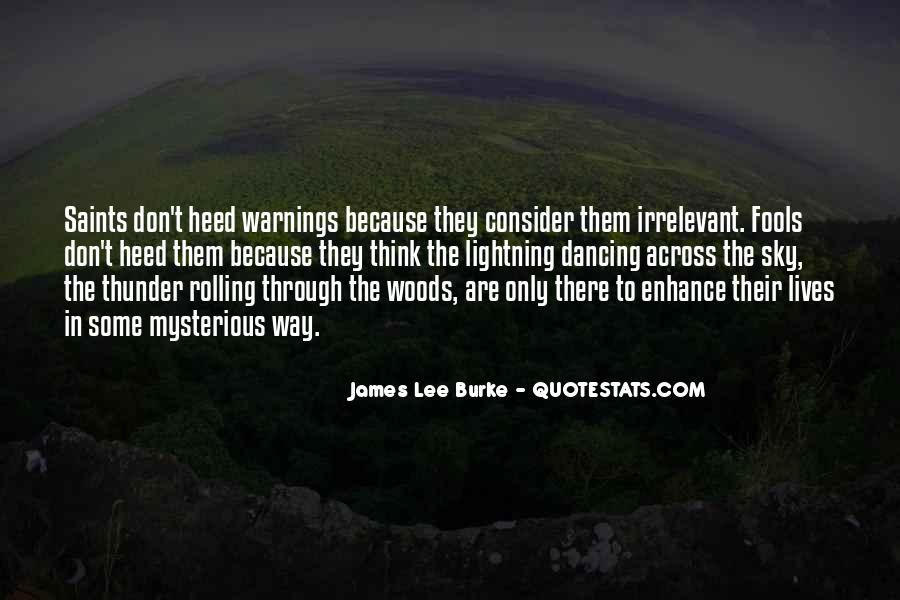 Quotes About Warnings #456831