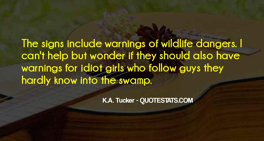 Quotes About Warnings #541146