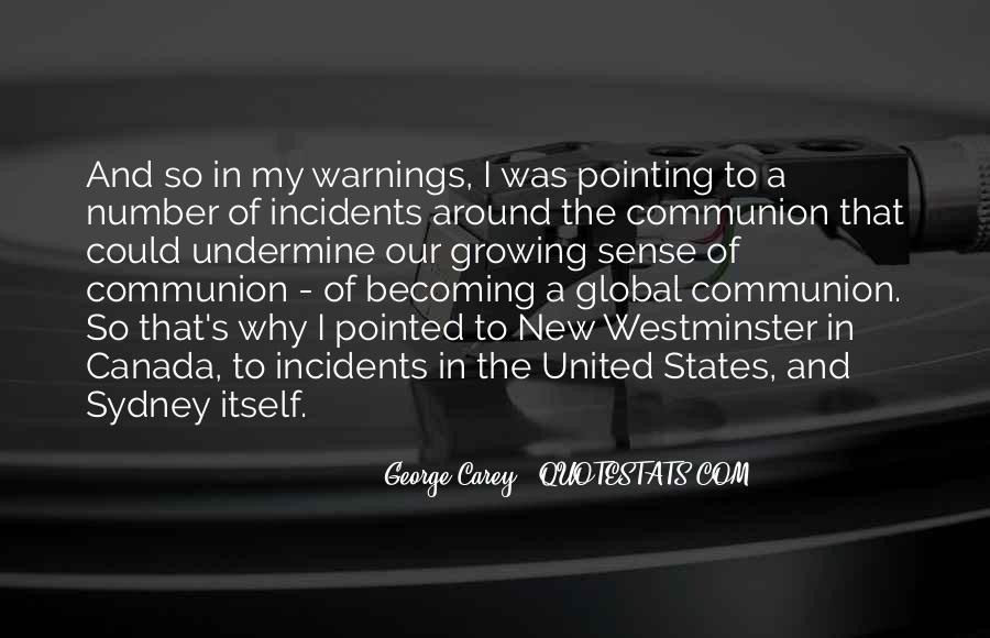 Quotes About Warnings #797151
