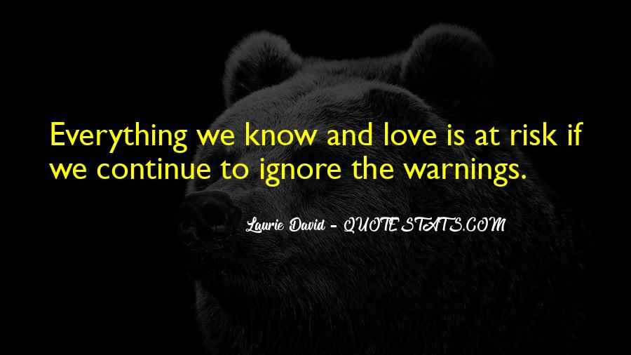 Quotes About Warnings #802768