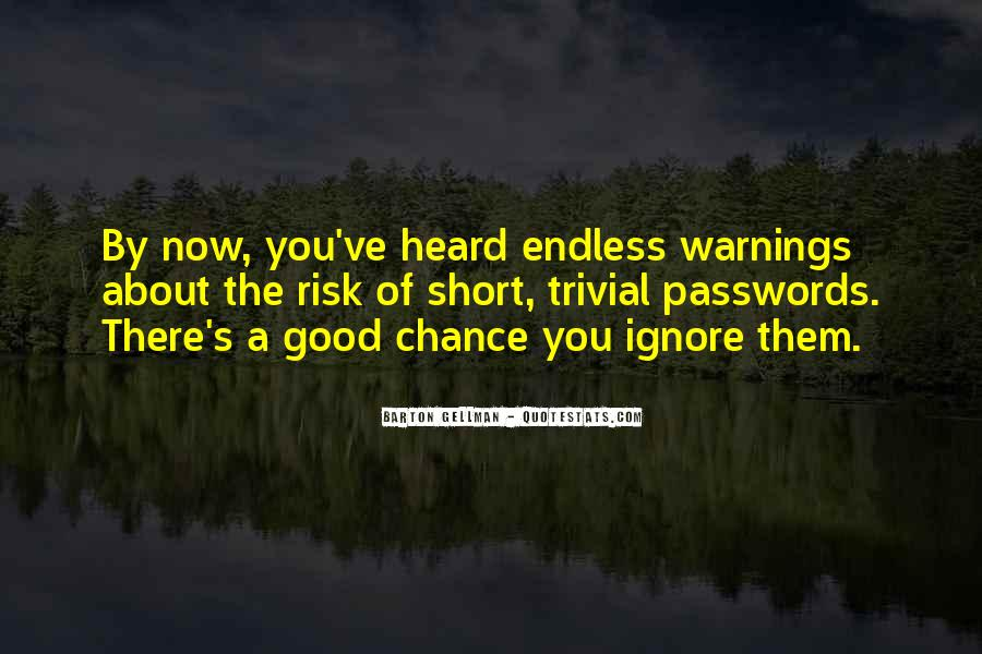 Quotes About Warnings #812110