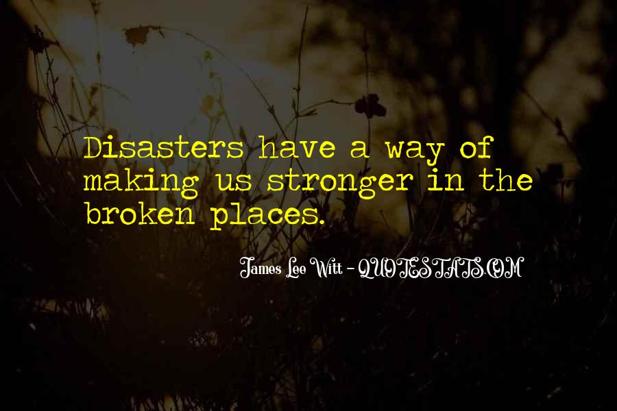 Quotes About Disasters #192380