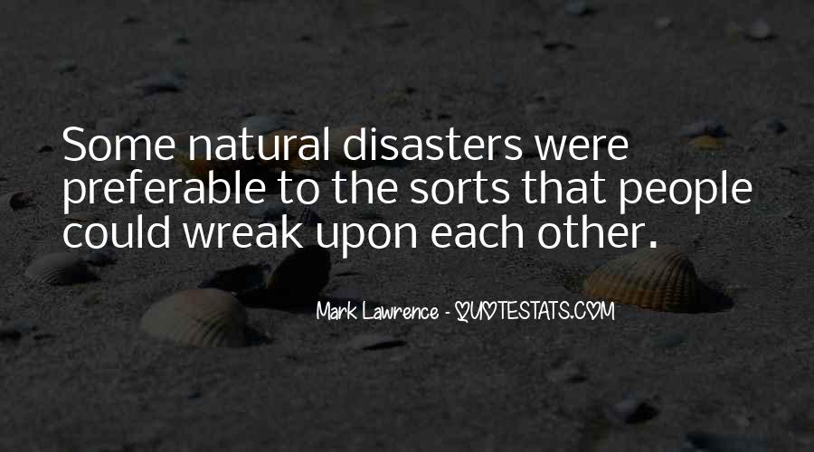 Quotes About Disasters #62555