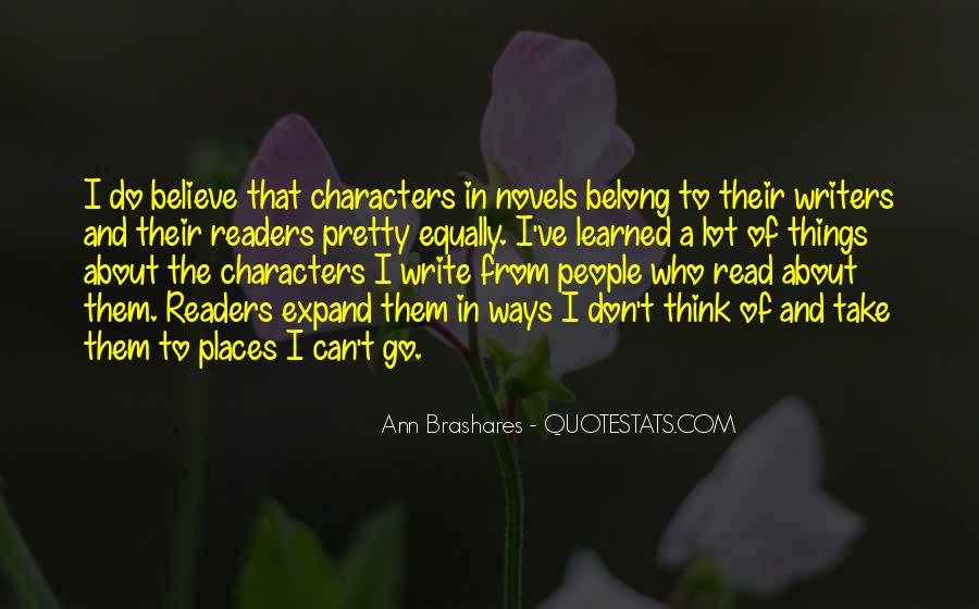 Quotes About Reading And Writing #104762